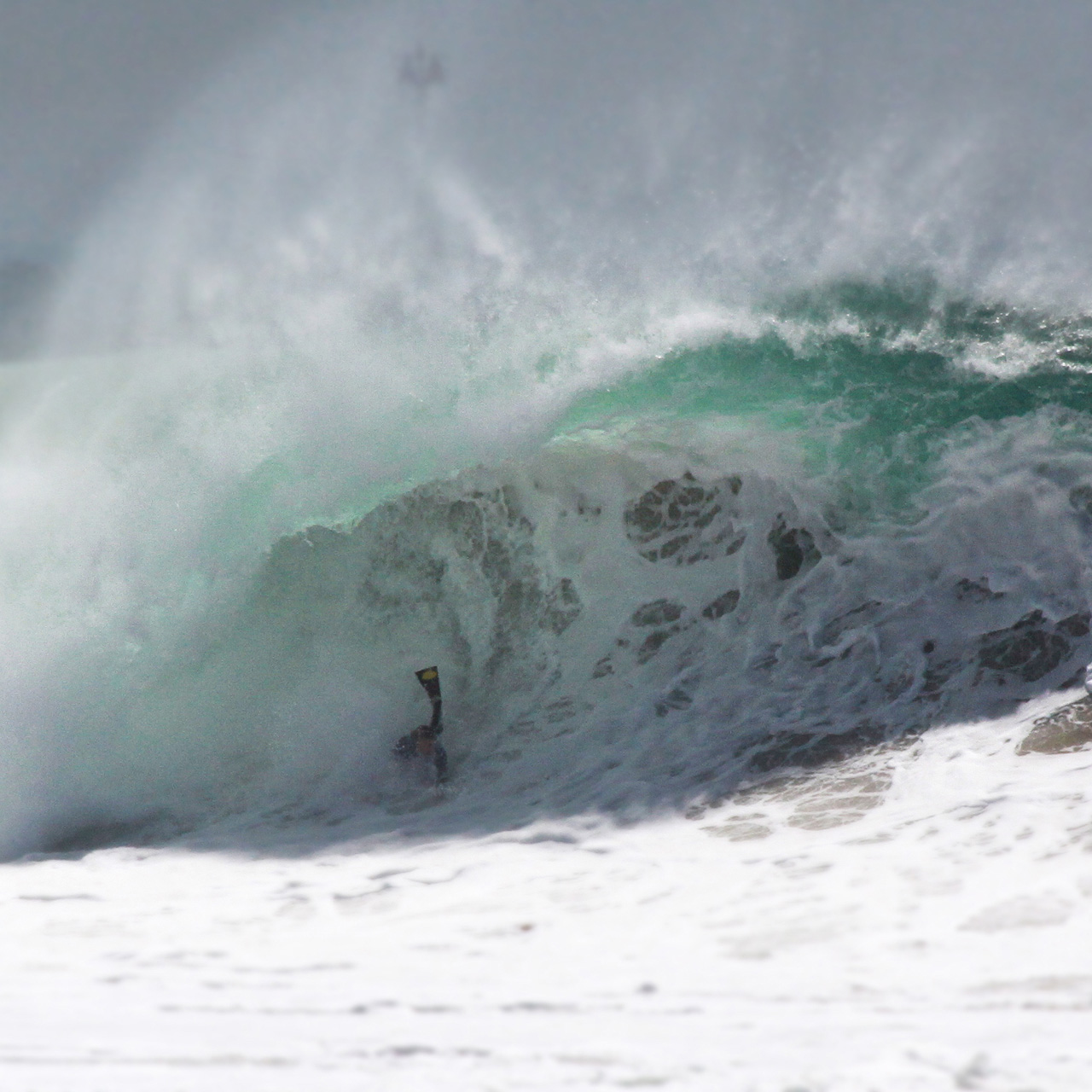 Bodysurfer in the Sacred Cave of Moving Light | The Wedge, Newport Beach, August 27th 2014