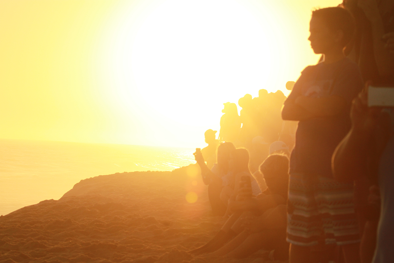 Sunset Spectators at The Wedge, August 27th, 2014